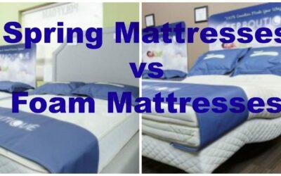 Memory Foam vs Spring Foam Mattresses in Calgary, AB